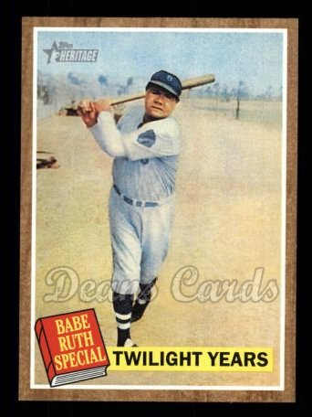 2011 Topps Heritage #141 A Twilight Years  -  Babe Ruth